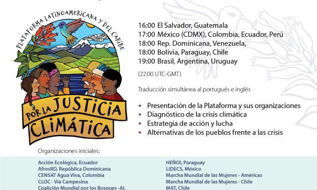 Lanzamiento Global Plataforma Latinoamericana y del Caribe por la Justicia Climática
