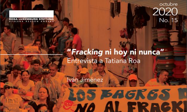 """""""Fracking ni hoy ni nunca"""" Entrevista a Tatiana Roa"""