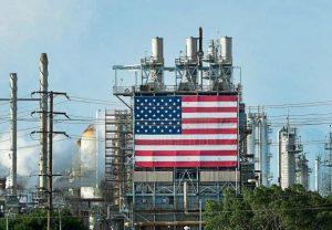 Una bandera de EE.UU. en unas instalaciones en Los Angeles Frederic J. Brown / AFP
