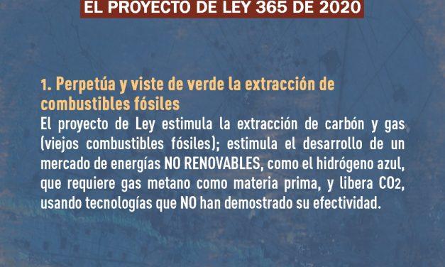 """CONCEPTO DE DIVERSAS ORGANIZACIONES DE SOCIEDAD CIVIL AL PROYECTO DE LEY NO. 365 DE 2020 SENADO – 565 DE 2021 CÁMARA """"Por medio de la cual se dictan disposiciones para la transición energética, la"""